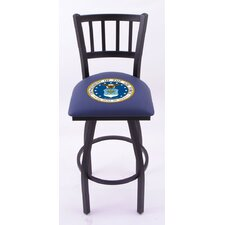 "US Military 25"" Bar Stool with Cushion"