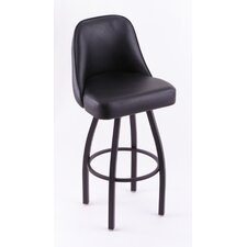 """Grizzly 30"""" Swivel Bar Stool with Cushion"""