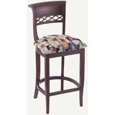 Designer Sulton Solid Hardwood Stationary Bar Stool