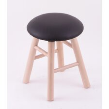 "Domestic Hardwood 18"" Round Cushion Swivel Stool"