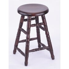 Domestic hardwood Saddle Dish Swivel Stool