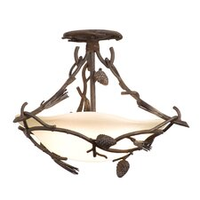 Ponderosa 3 Light Semi Flush Mount
