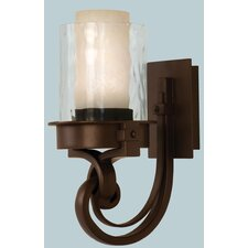 <strong>Kalco</strong> Newport 1 Light Wall Sconce with Glass Shade