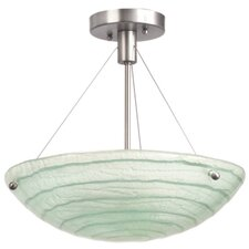 Aqueous 3 Light Semi Flush Mount