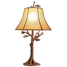 "Ponderosa 35"" H Table Lamp with Bell Shade"