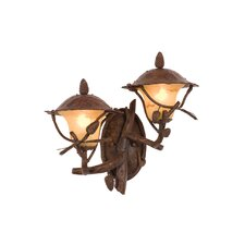 Ponderosa 2 Light Outdoor Wall Lantern