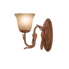Ponderosa 1 Light Wall Sconce with Glass Shade