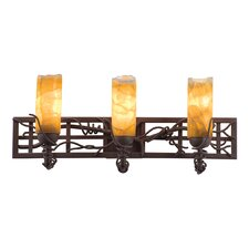 Vine 3 Light Bath Vanity Light with Tulip Shade