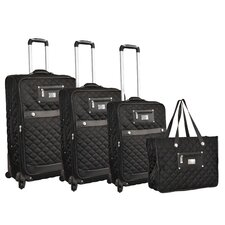 Quilted 4 Piece Luggage Set