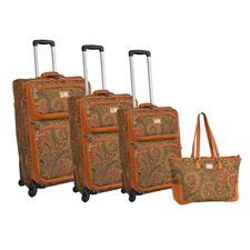 Paisley 4 Piece Luggage Set