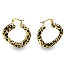 Leopard Spot Hoop Earrings