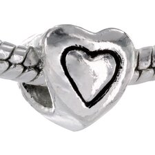 Heart Shaped Bead Charm