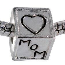 Love Mom and Dad Block Bead Charm