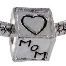 Love Mom and Dad Block Bead Charm