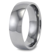 Men's Titanium Domed Polished Comfort Fit Band Ring