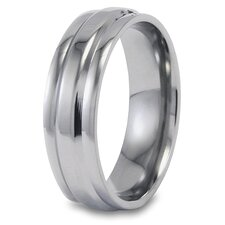 <strong>West Coast Jewelry</strong> Titanium Domed Polished Ring
