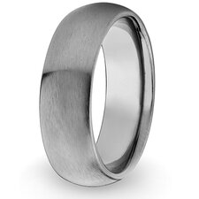 <strong>West Coast Jewelry</strong> Men's Titanium Domed and Brushed Comfort-fit Ring