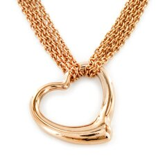 Goldplated Stainless Steel Hearts Necklace