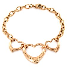 Three Open Hearts Bracelet
