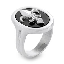 <strong>West Coast Jewelry</strong> Stainless Steel Resin Fleur De Lis Ring