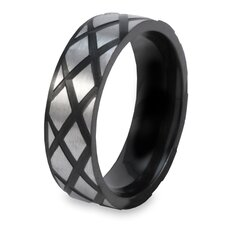 Stainless Steel Diamond Band Ring