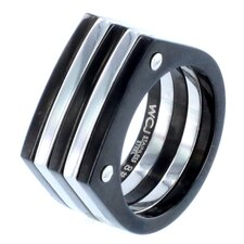 Stainless Steel Screw Accent Band Ring