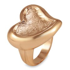 <strong>West Coast Jewelry</strong> Rose Goldplated Stainless Steel Heart Ring