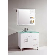 "<strong>Legion Furniture</strong> 36"" Single Bathroom Vanity Set with Mirror"