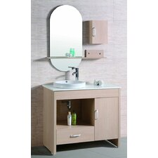 "<strong>Legion Furniture</strong> 39"" Vanity Set with Mirror and Side Cabinet"