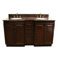 "60"" Double Sink Vanity Base with Soft Close Doors"