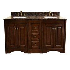 """61"""" Double Bathroom Vanity Set with 4 Door"""