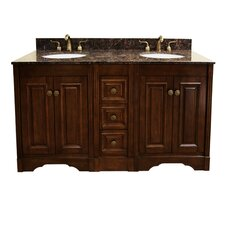 "61"" Double Bathroom Vanity Set"