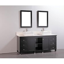 "72"" Bathroom Vanity Set with Mirrors"