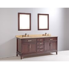 "<strong>Legion Furniture</strong> 72"" Bathroom Vanity Set with Mirrors"