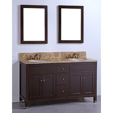 "60"" Bathroom Vanity Set with Mirrors"
