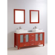 "59"" Bathroom Vanity Set with Mirrors"