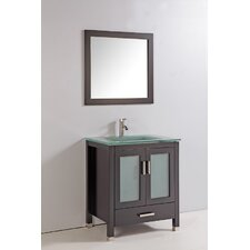 "30"" Solid Wood Bathroom Vanity Set"