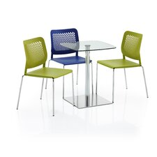 Venalo 5 Piece Square Base Meeting Table Set