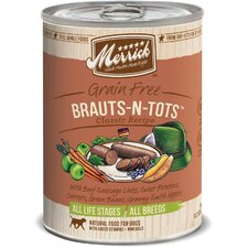 Brauts-N-Tots Canned Dog Food (13.2-oz, case of 12)