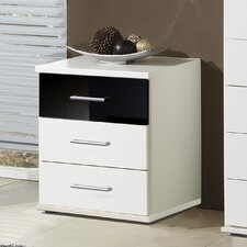 Milano 3 Drawer Bedside Table
