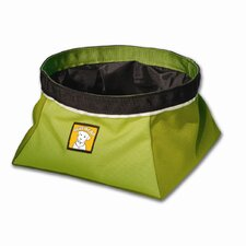Quencher™ Portable Outdoor Dog Water Bowl in Lichen Green
