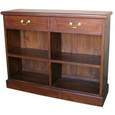 <strong>Lock Stock and Barrel</strong> Mahogany 2 Drawer Low Bookcase