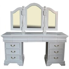Mahogany 9 Drawer Dressing Table
