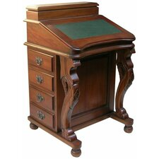 Mahogany Davenport Desk with Leather Top in Mahogany