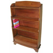 Mahogany Small Waterfall Bookcase