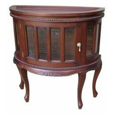 Mahogany Demilune Tea Console Table