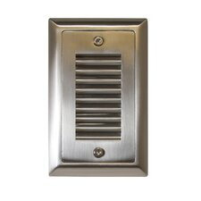 Indoor/Outdoor Vertical Louver LED Step Light Faceplate (Set of 3)