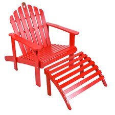 <strong>Jordan Manufacturing</strong> Adirondack Chair with Ottoman