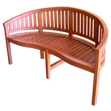 Curved Back Wood Garden Bench
