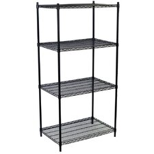 Four Shelf Wire Shelving Unit Starter